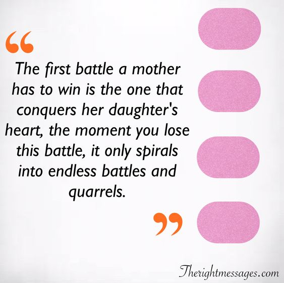 first battle a mother has to win