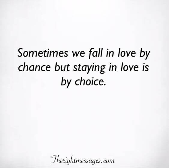 sometimes we fall in love by chance