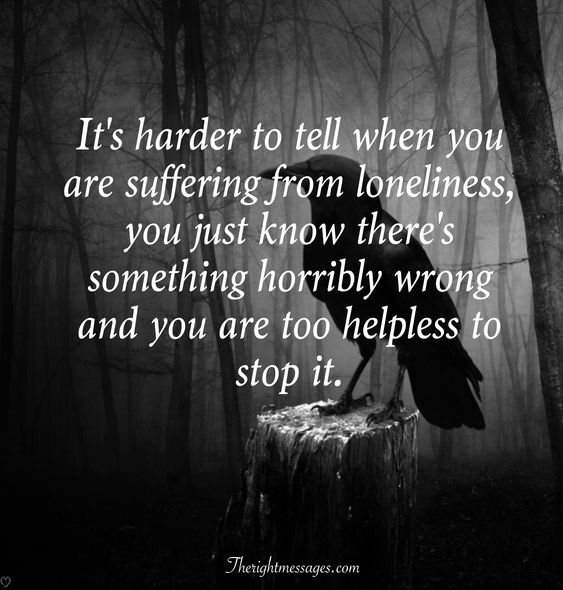 suffering from loneliness