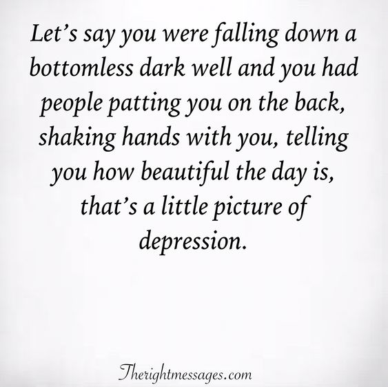 that's a little picture of depression.