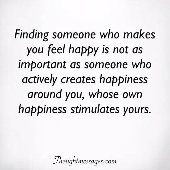 whose own happiness stimulates yours