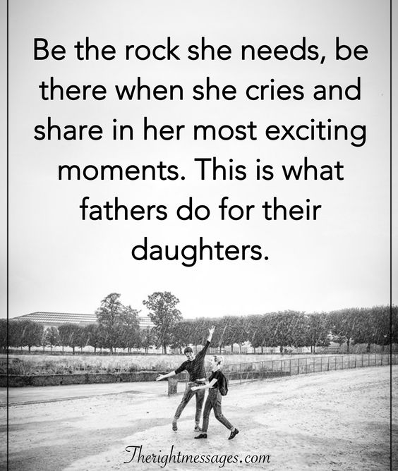 Be the rock she needs