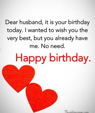 Funny Happy Birthday Wishes for your Husband