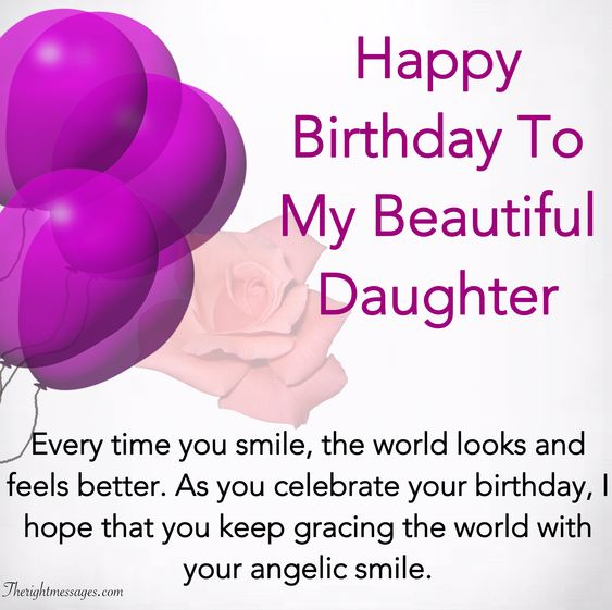 Happy Birthday To My Beautiful Daughter