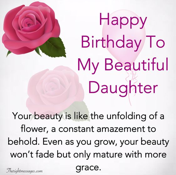 Happy Birthday To My Daughter
