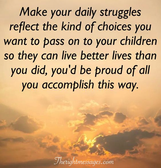 Make your daily struggles