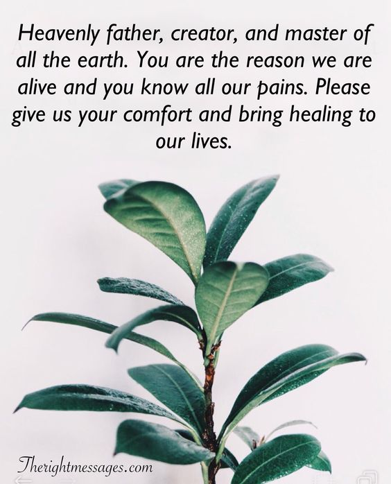 Powerful Prayers For Healing And Comfort | The Right Messages