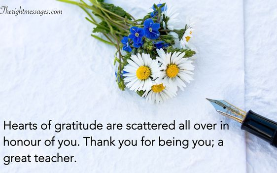 Short Thank You Message for Teacher