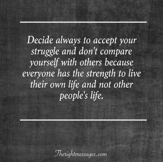 accept your struggle