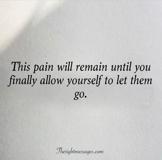 allow yourself to let them go