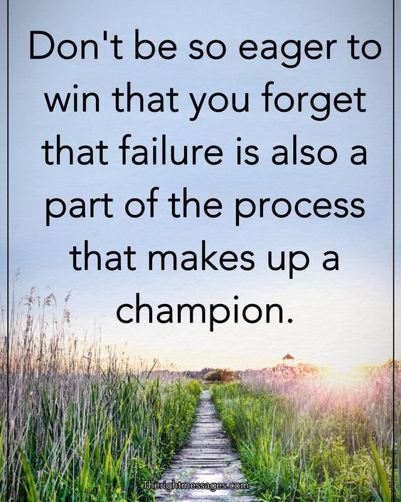 failure is also a part of the process