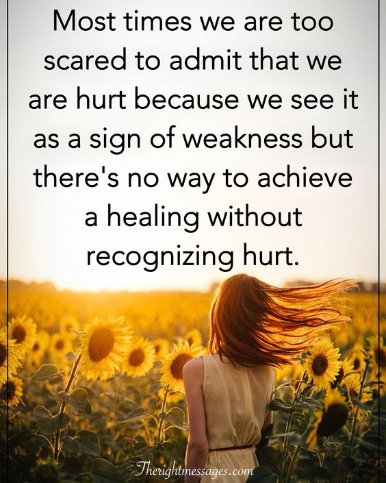 healing without recognizing hurt