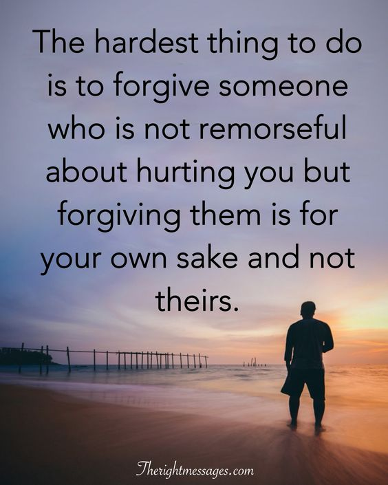 hurting you but forgiving