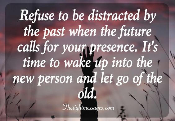 let go of the old