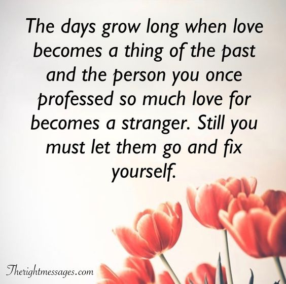let them go and fix yourself