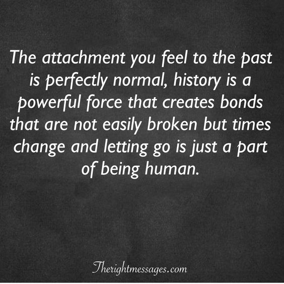 letting go is just a part of being human.