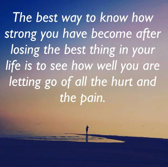 letting go of all the hurt and the pain