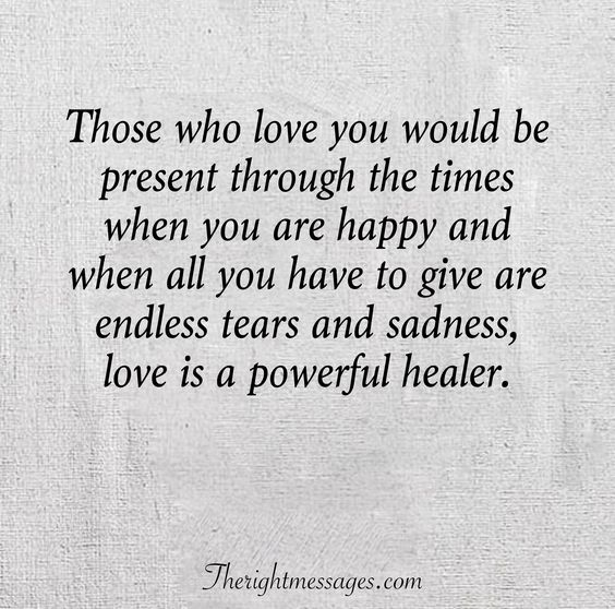 love is a powerful healer
