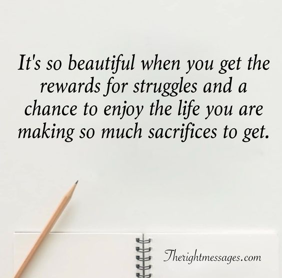 rewards for struggles