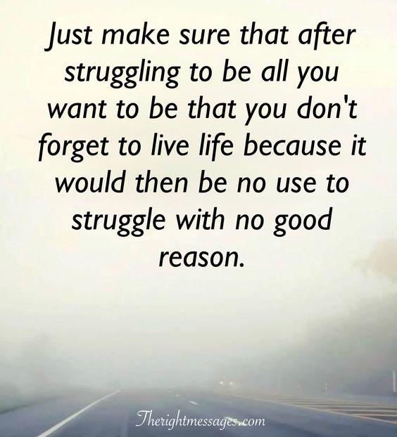 struggle with no good reason