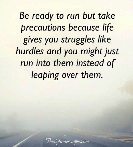 struggles like hurdles