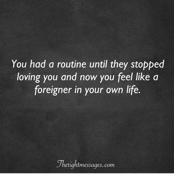 they stopped loving you