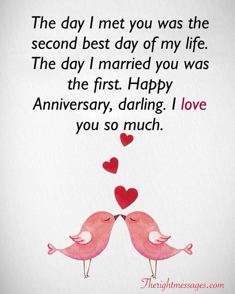 Wedding Anniversary darling i love you
