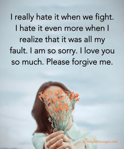 46 I'm Sorry For Hurting You Text Messages For Her & Him | The Right