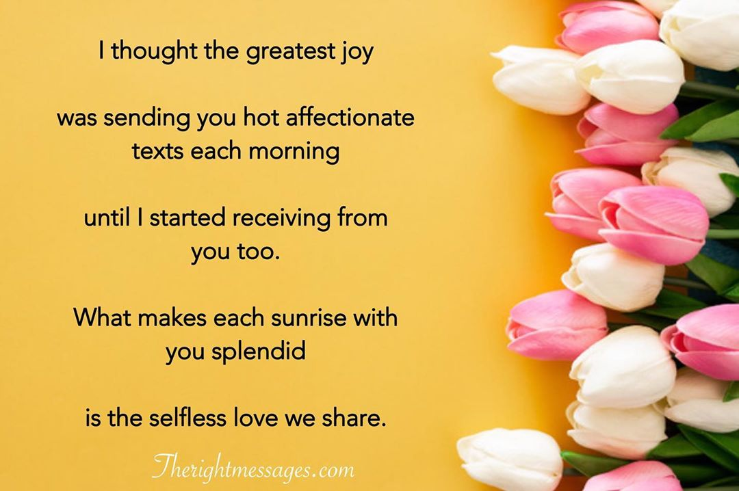 Good Morning Poems For Girlfriend