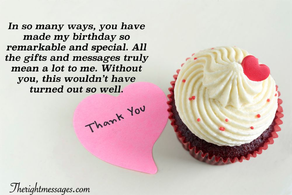 Thank You Messages For The Birthday Wishes
