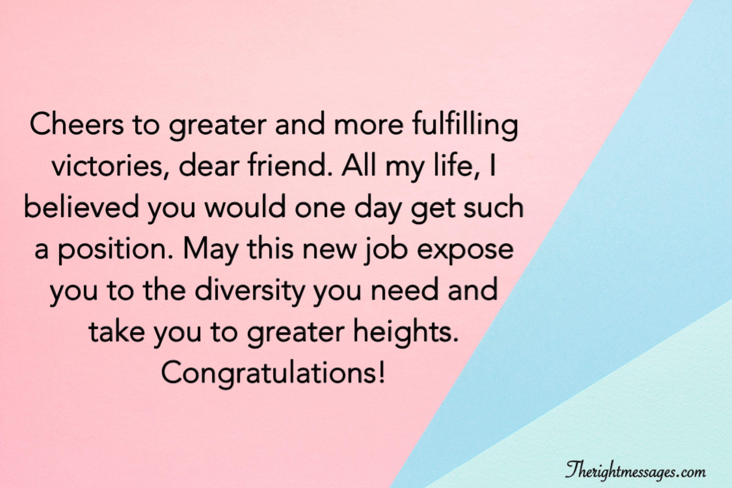 New Job Wishes